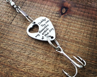 Fishing Lure / Gift for Him / Fishing gift / Dad Lure / Grandpa Lure / Fathers Day Gift / Tackle gift / Hand stamped fishing lure