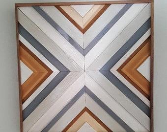 Wood wall art, wood art, reclaimed wall art, wood decor, wood mosaic, wood mosaic wall art