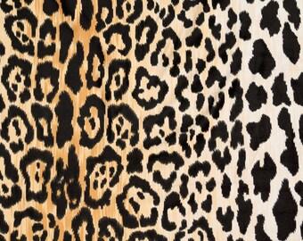SHIPS FAST Velvet Cheetah Designer Fabric, Hollywood Gold Leopard Upholstery Fabric, Braemore Jamil Velvet Animal Print Fabric - By the yard