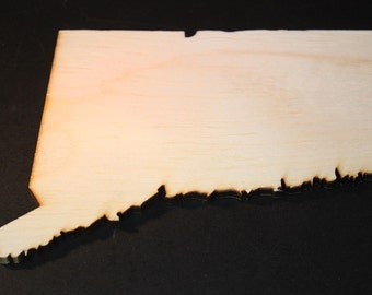 CT Connecticut Wood Cutouts - Shapes for Projects or Other Use