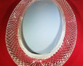 Vintage-Vanity-Tray-Mirror-Glass-Crystal-Bathroom Decor-Dresser Decor-Home Decor