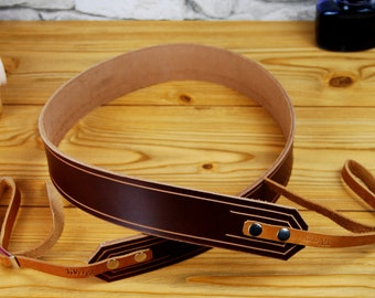Leather Camera Strap, Personalized Leather Camera Strap, DSLR Camera Strap, Custom Leather Strap, Nikon strap, Canon strap, Pentax, Gift
