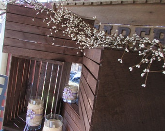 flower box centerpiece / rustic wooden crates / Rustic Wedding / wedding decoration / table centerpiece / wooden planter box centerpiece