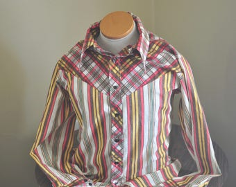 Vintage Western Style Stripped Shirt (Put-On Shop/Sears)