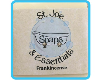 Frankincense Soap, Handmade Soap, All Natural Soap, Organic Saponified Olive Oil, Coconut Oil, Shea Butter, Fragrance Oil