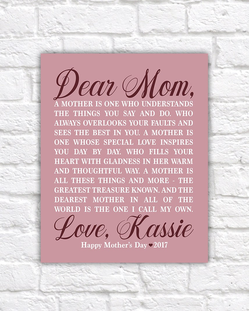 Personalized mothers day gift for mom from daughter mom poem personalized mothers day gift for mom from daughter mom poem poetry for mom best mom 1 mom gift letter to mother special wf584 altavistaventures Choice Image