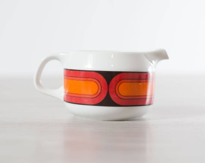Vintage Arzberg creamer / Feurfest Germany Orange and Red Mid Century Modern Retro Coffee Creamer / Ceramic Boho Scandinavian Style Pottery