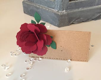 Rustic place setting card