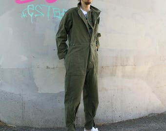 Vintage Military Coveralls Cotton jumpsuit