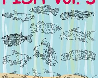 36 Fish Vol 3 Vector Clipart