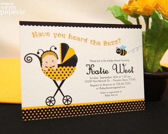 DIY PRINTABLE Invitation Card - Bumble Bee Baby Shower Invitation - BS816CB1a3