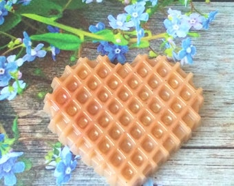 Vanilla milk waffle bakery soap gift idea for her dessert soap fun novelty soap homemade natural soap fake food soap tea party cookie soap