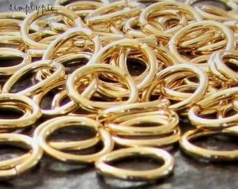 6mm Gold Plated Jump Rings 20-gauge 50 Pcs Brass Jumprings