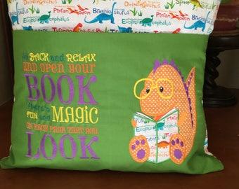 Reading Pillow Cover - Dinosaur