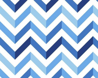 Chic Chevron Fleece Fabric by David Textiles by the yard