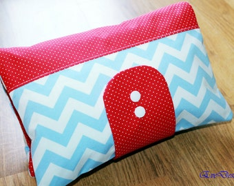 Nappy Wallet (chevron pattern, red, blue)