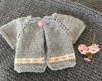 American Girl-  Gray Spring Sweater