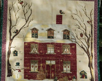 Vintage Advent Calendar Quilted Advent Calendar Christmas Advent Calendar Christmas Countdown Calendar Advent Calendar Wall Hanging