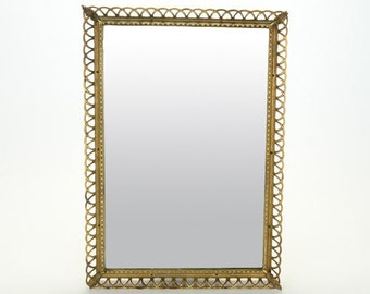 Vintage Looped Brass Wall Mirror