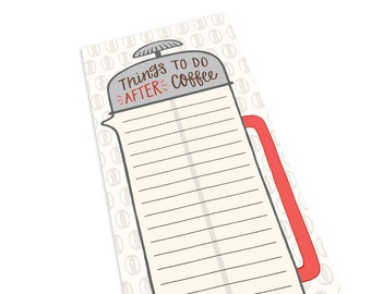 Coffee Notepad - To Do List - Desk Notepad - To Do Notepad - Daily To Do List