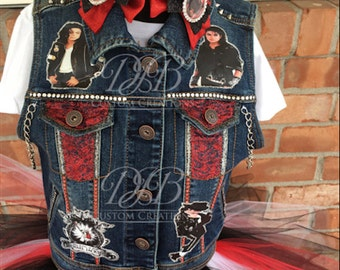 Michael Jackson tutu set, Tutu set, MJ custom vest, Custom Michael Jackson, MJ tutu, King of Pop vest