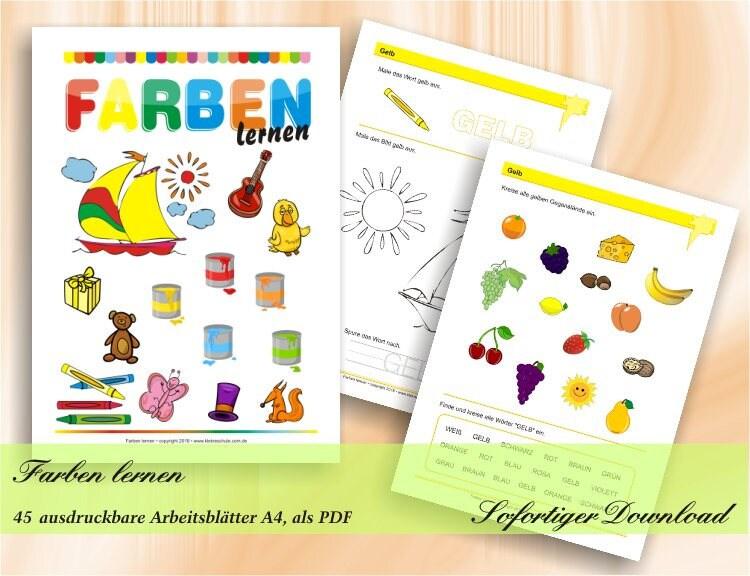 Farben lernen die ersten Übungen zu Farben Vorschule und