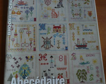magazine french creative embroidery - crosstitching designs, abecedaire country.... n. 57 - 2014