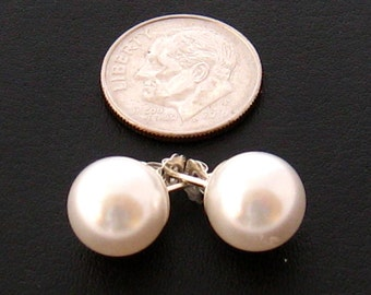 il pearl studs on giant shop huge extra etsy earrings fauxshowpearls large swarovski stud