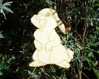 Rabbit 1786 has height 8 cm wooden Littles embellishment
