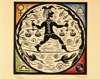 Libra Zodiac card
