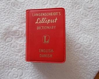 Langenscheidts Lilliput miniature  dictionary  English to Danish