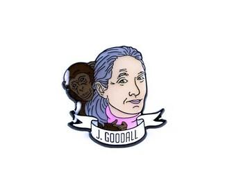 Jane Goodall Enamel Pin - Science Heroes Series