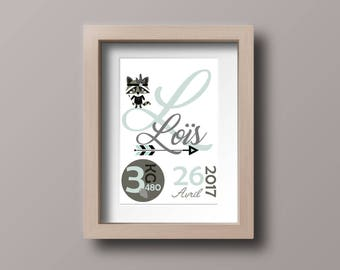 Personalized birth print