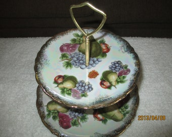 Vintage Nasco Del Coronado painted Fruit Tier Tray