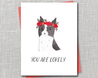 You Are Lovely Notecard Instant Download PDF