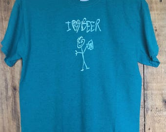 I Heart Beer Shirt (Teal)