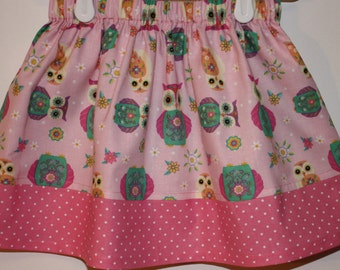 Clearance Pink Owl Skirt  Size 2- 7