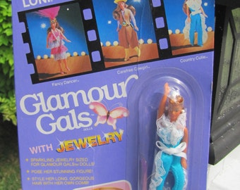 """HTF & Very Rare NRFP Kenner 80s Glamour Gals Doll """"Loni"""" in Country Cutie"""