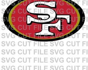 SVG Cut File~ SF 49ers Multi Layer Cut File~Silhouette Cut File~Cameo ~Cricut ~~