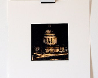 St Paul's Cathedral London, Limited Edition Screenprint