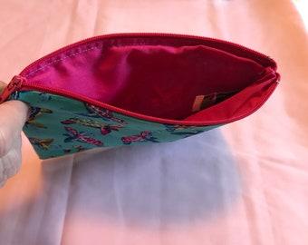 Handmade Toiletry Bag with Zipper Closure