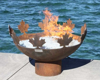 The Big Bowl O Canada 37 inch Sculptural Firebowl