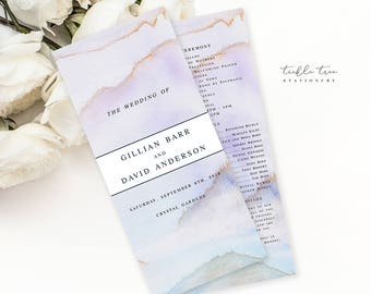 Desert Sands - Wedding Programs (Style 13728)