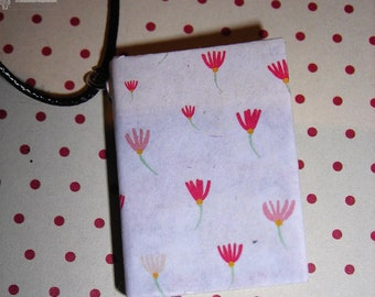 Necklace paper poppies (Book necklace)