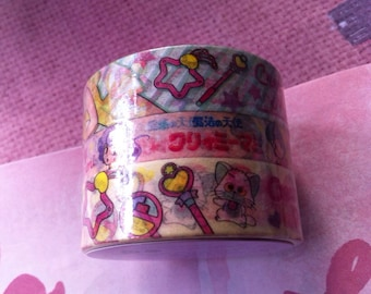 Kawaii 3 rolls of Creamy Mami, Magical Angle masking tape / mt / washi tape from Japan