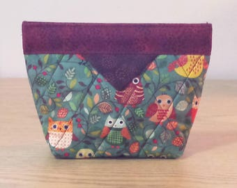 Quilted Snap Bag (SB057) Owls