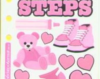 Stickopotamus Stickers Baby Steps Girl (cardmaking/scrapbooking/bullet journal)