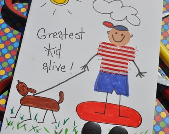 Encouragement Greeting Card for Children  Greatest Kid Alive-Boy