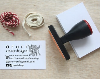 Business card stamp etsy business name card stamp custom business stamp colourmoves