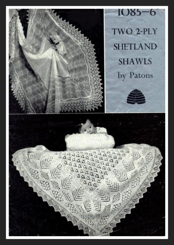 PDF Knitting Pattern for 2 Designs of Fine 2 ply Traditional ...